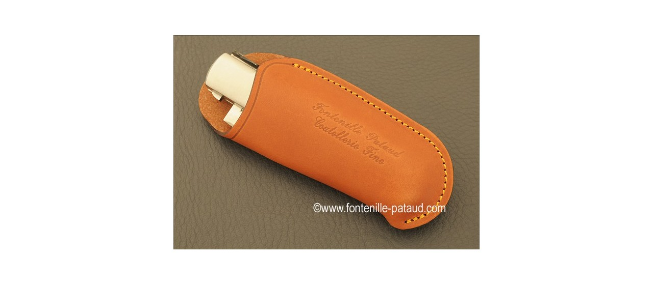 Knife Laguiole Gentleman Single Hand Opening Range Real Bone