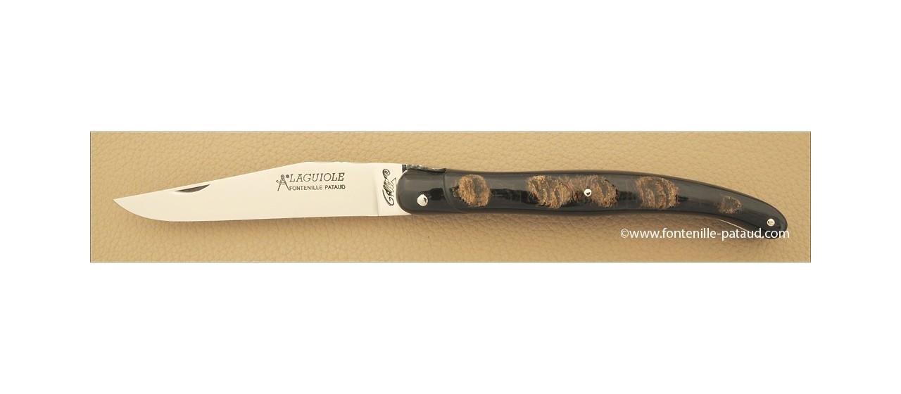 Laguiole d'aubrac fabriqué en France par Gilles en corne de buffle