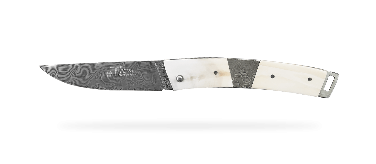 Le Thiers® Pocket Damascus central bolster Warthog
