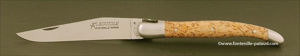 Laguiole Traditionnel 12 cm Guilloché Bouleau