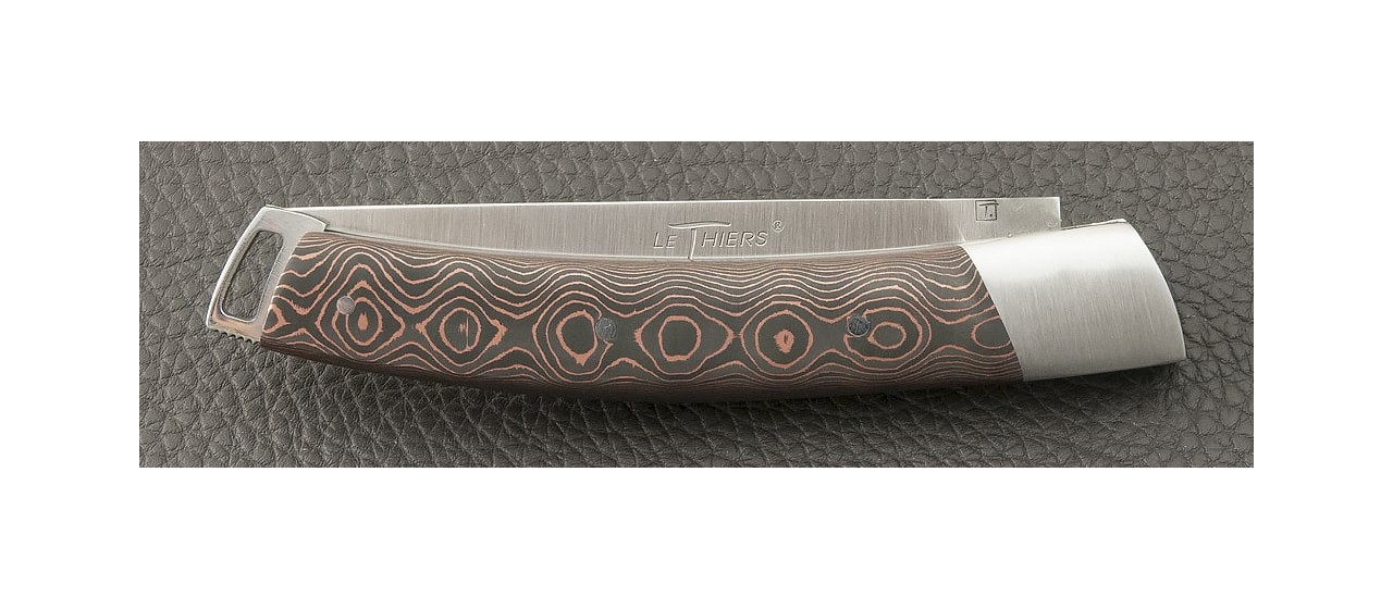 Le Thiers® Nature Fat Carbon Bronze knife made in France