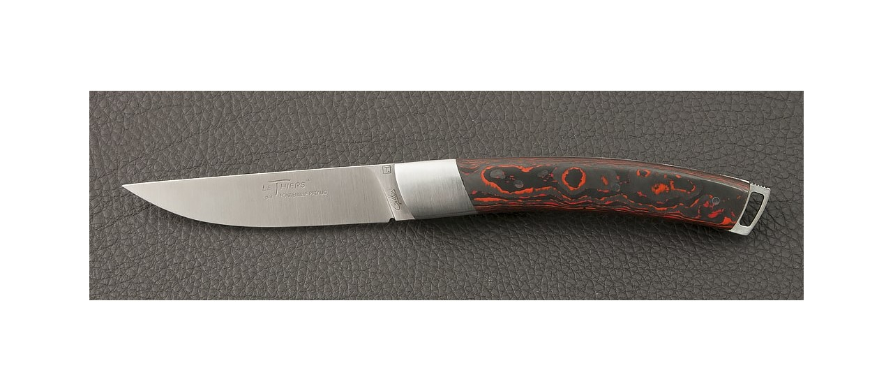 Le Thiers® Nature Fat Carbon Lava knife handmade in France