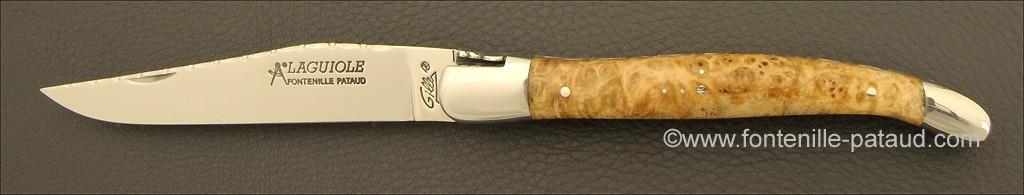 Laguiole Traditionnel 12 cm Guilloché Erable
