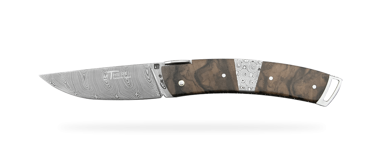 Le Thiers® Gentleman Damascus Central bolster Walnut