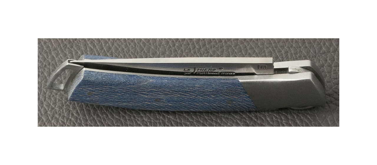Le Thiers® Gentleman Stabilized blue plane tree knife handmade in France