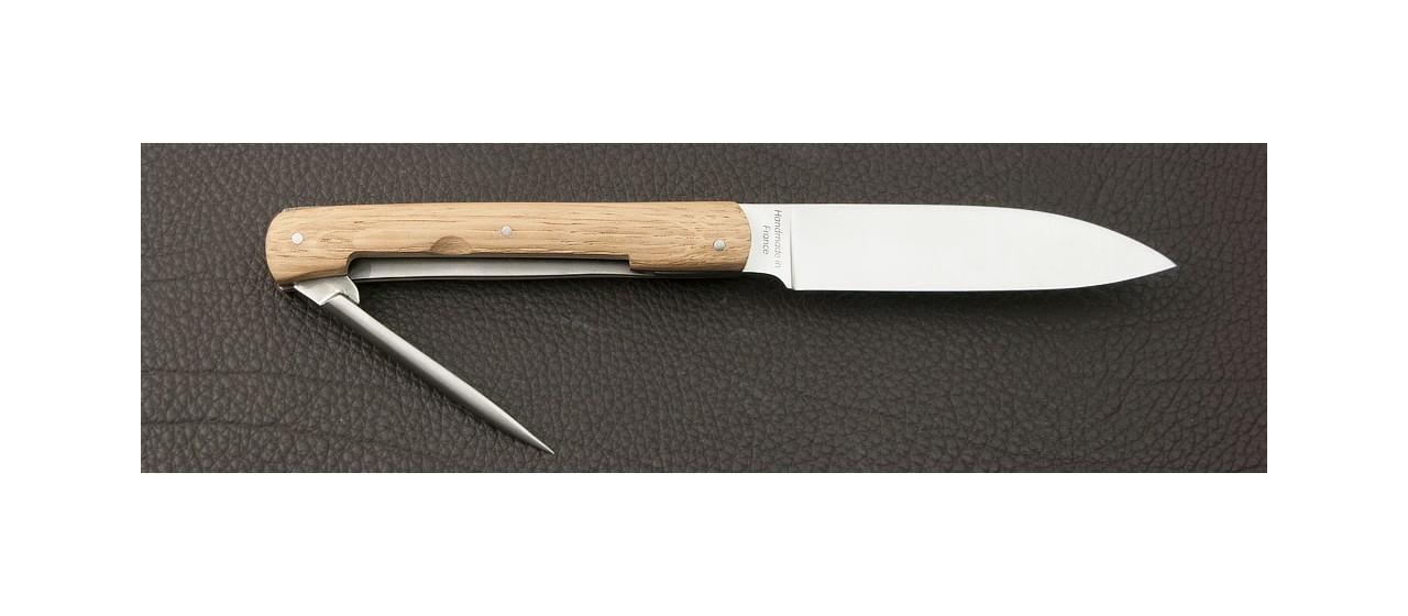 Set of 2 L'Issoire knives Oak handmade in France