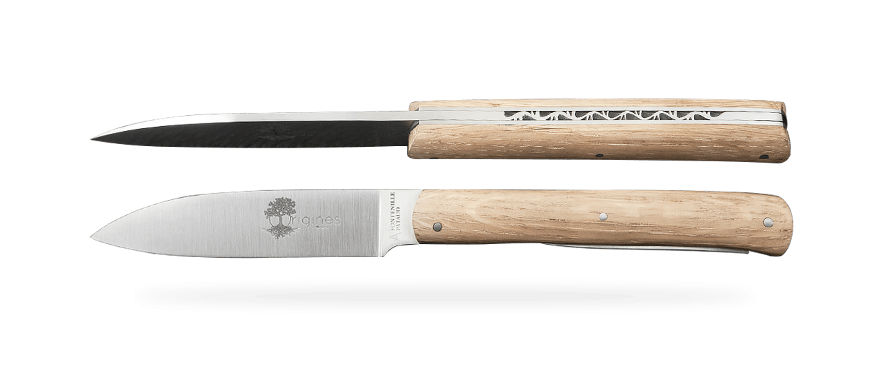 Set of 2 L'Issoire knives Oak