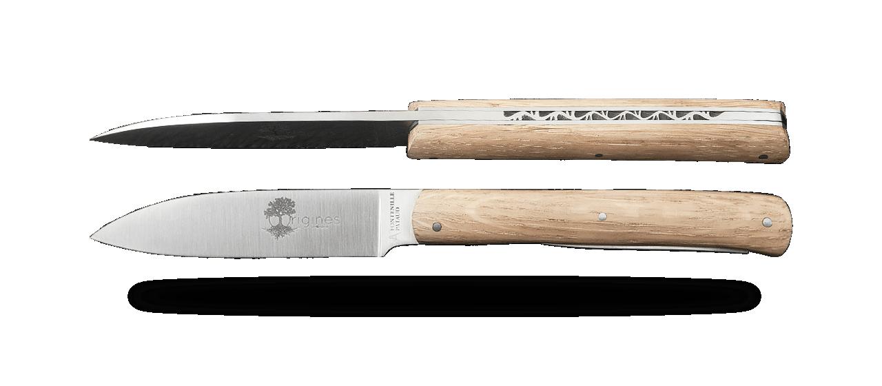 Set of 6 L'Issoire knives Oak handmade in France
