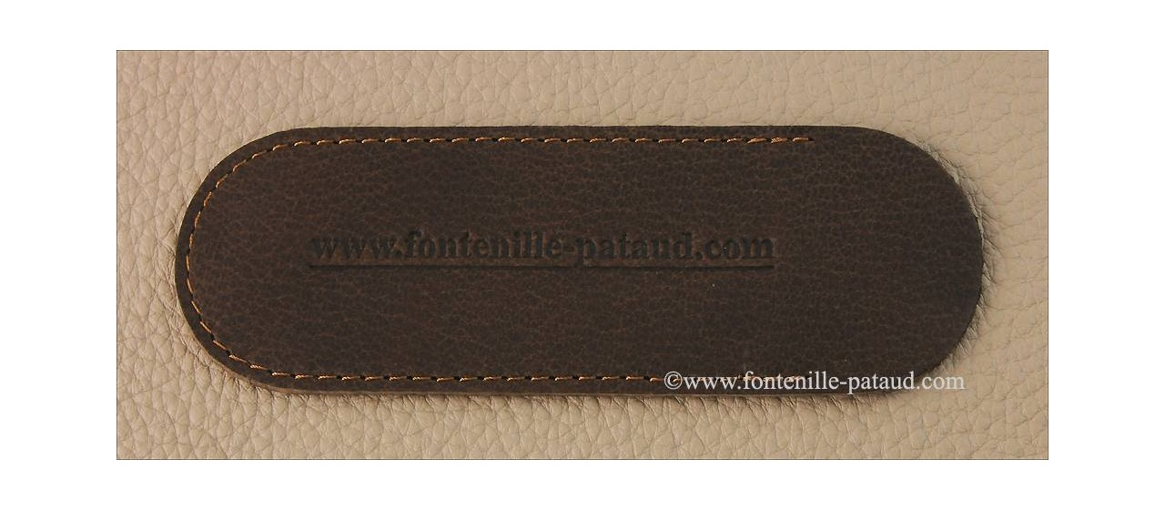 """Le Thiers® Nature Damascus """"Needles"""" Real Bone knife made in France"""