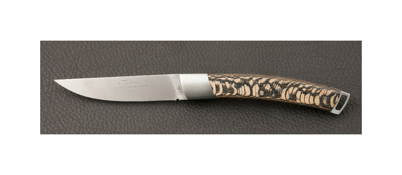 Le Thiers® Nature Stabilized black plane tree knife handmade in France