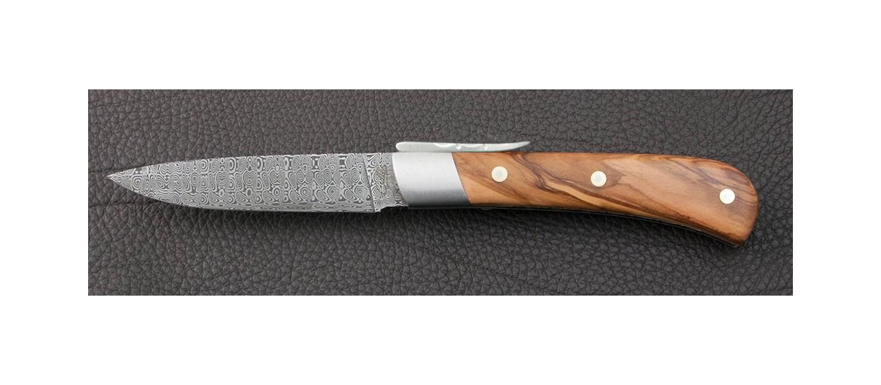 Couteau à palanquille et lame en damas