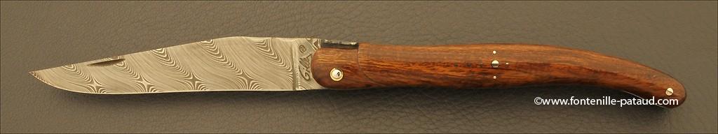 Laguiole damas en bois de fer d'Arizona de premier choix