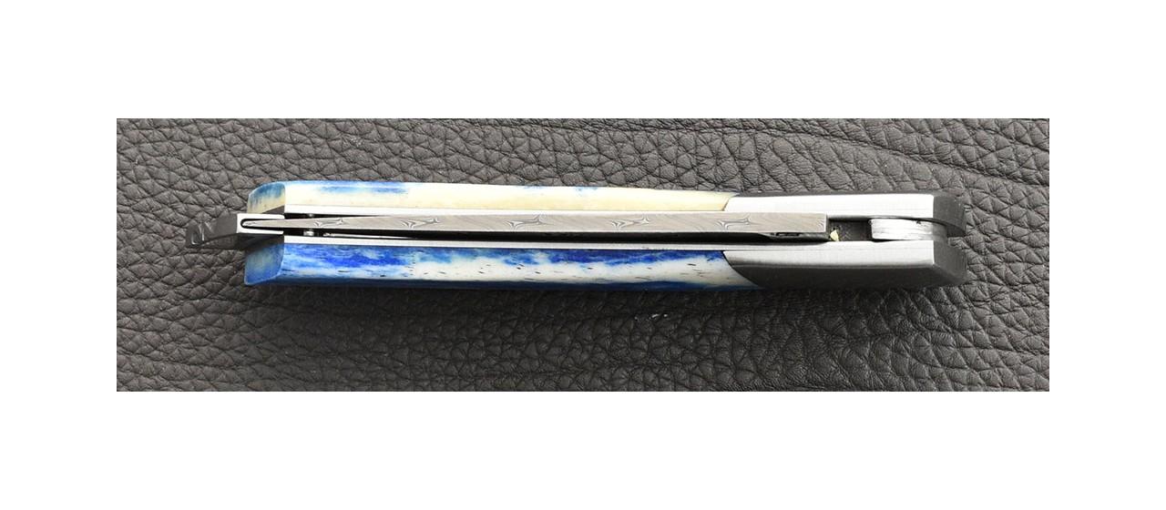 Le Thiers ® Gentleman knife Damascus blue bone