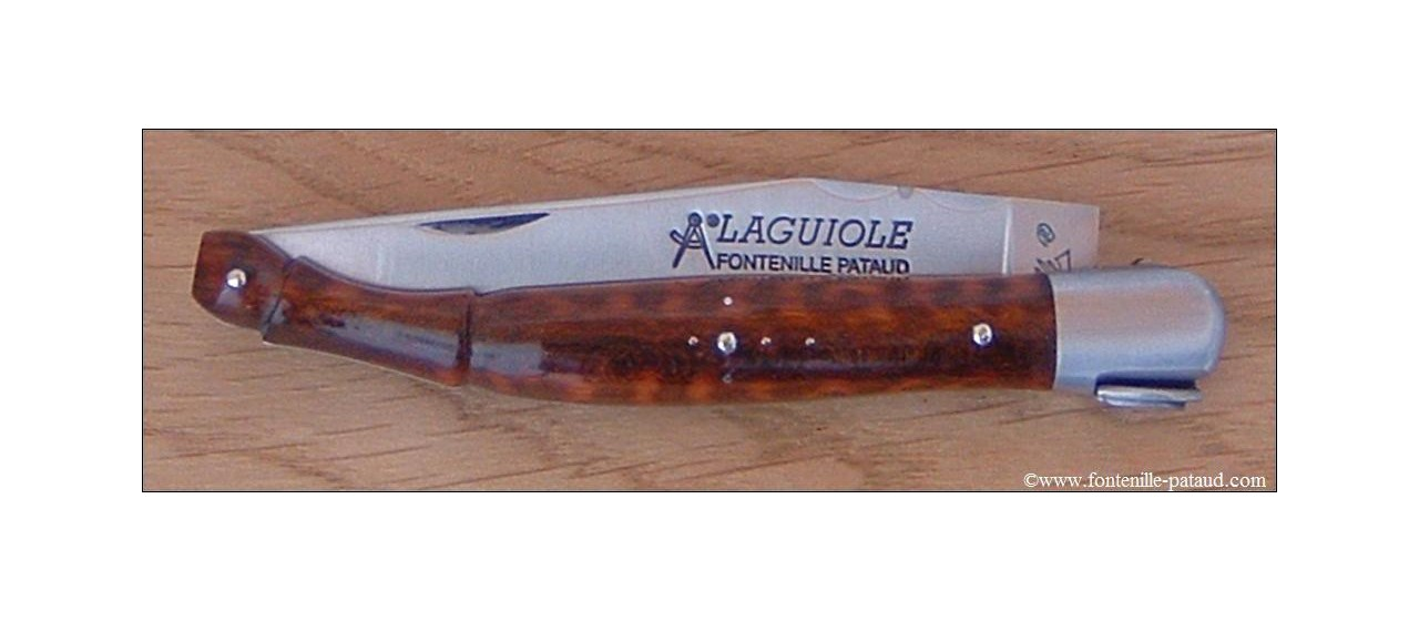 Collectors laguiole knife snakewood handle