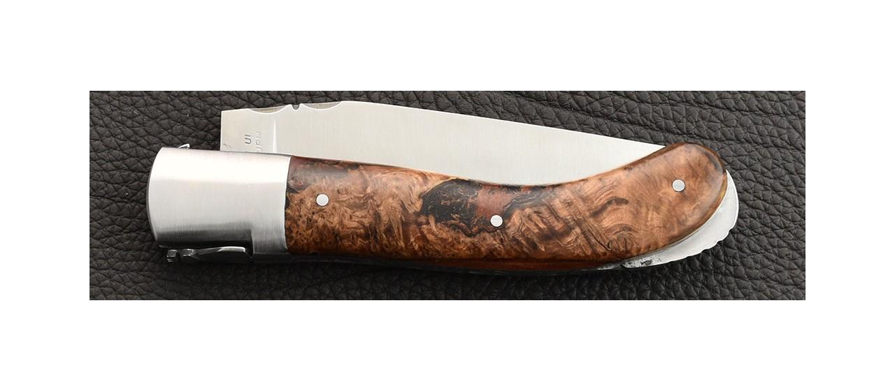 Laguiole Sport knife hybrid Juniper burl