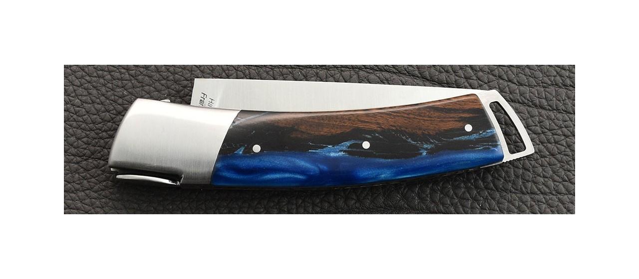 Couteau Le Thiers® Gentleman Bois de fer et résine epoxy création française
