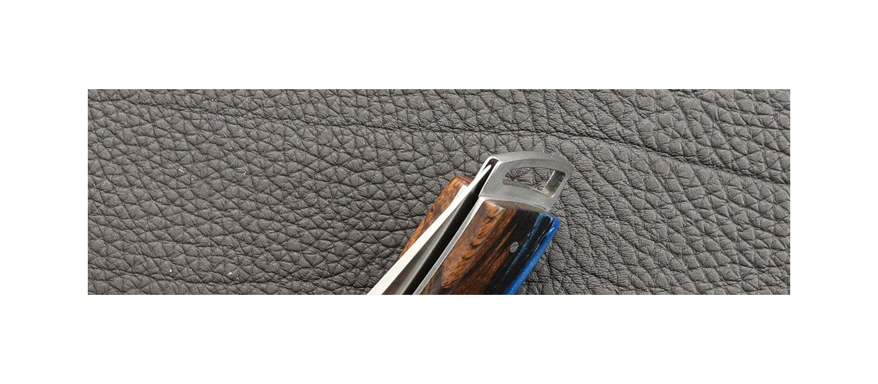 Le Thiers® Gentleman Hybrid Ironwood and epoxy resin knife handmade in France
