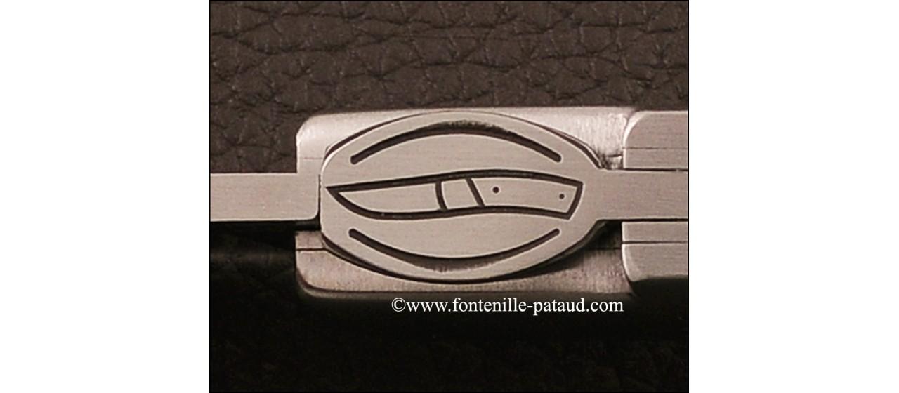 Le Thiers® Gentleman Hybrid juniper burl et epoxy resin knife handmade in France