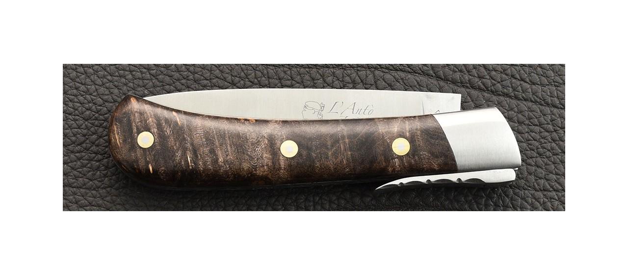 Corsican knife maple burl hanmade in France