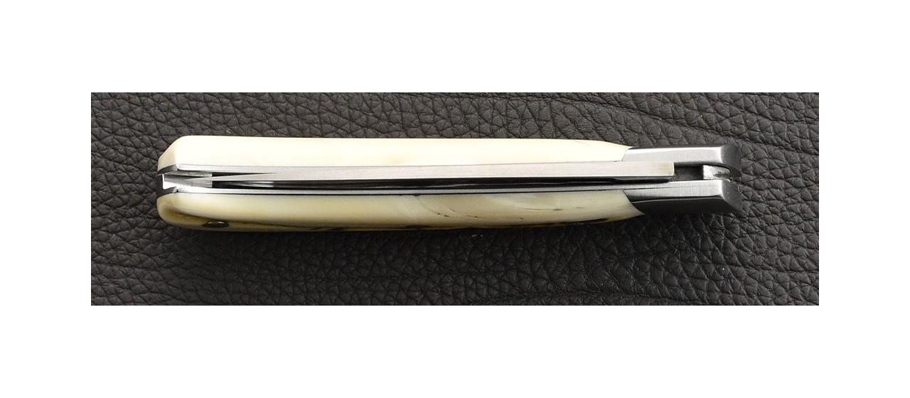 Corsican knife warthog ivory handmade in France
