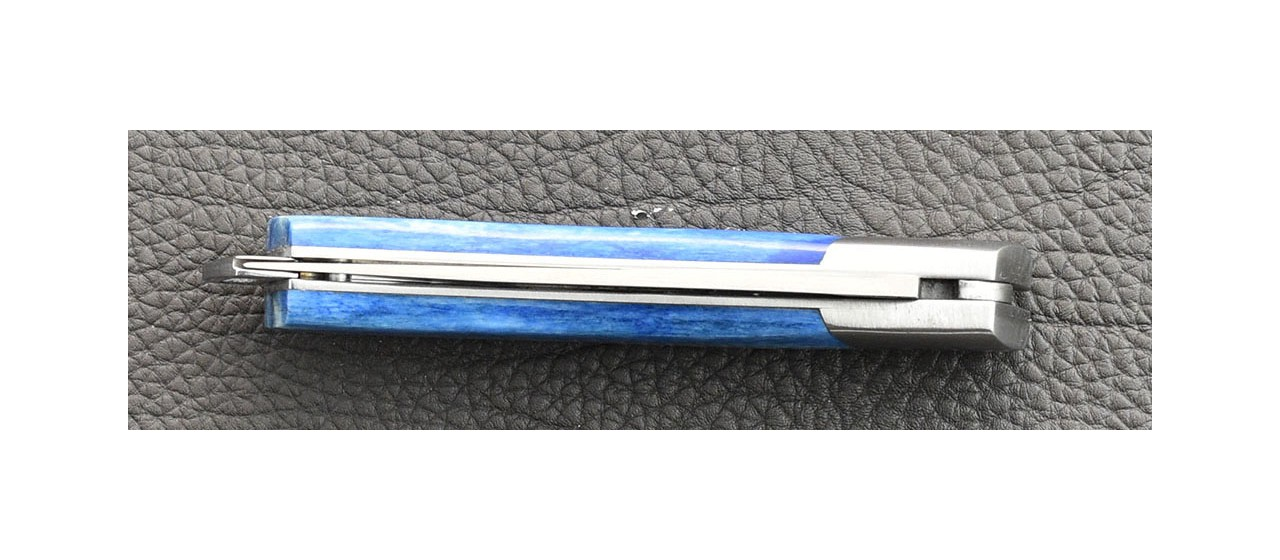 Le Thiers® Nature knife blue Real Bone