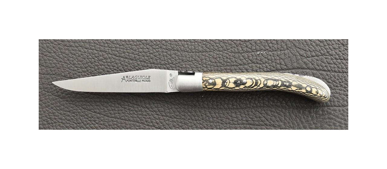 Laguiole Knife Le Pocket Classic Range stabilized plane tree