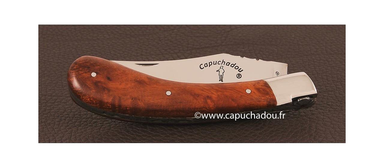 """Le """"Capuchadou - Guilloché"""" 12  cm, Bois de fer"""