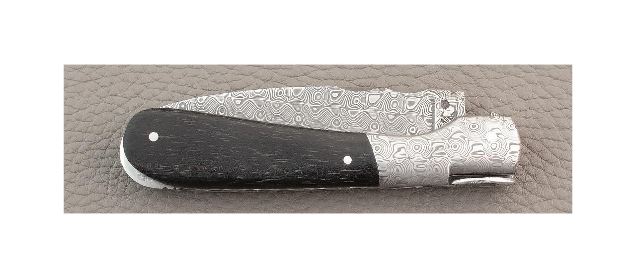 Corsican Pialincu knife Damascus range Ebony