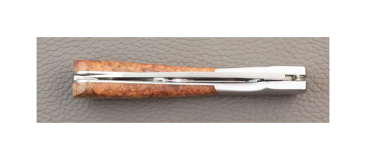 Magnifique Couteau Vendetta Corse Traditionnelle Loupe d'Amboine fabrication France
