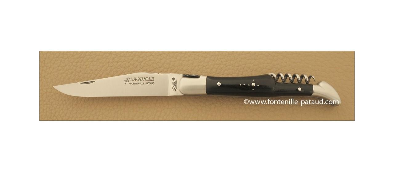 Couteau Laguiole Traditionnel 12 cm Classique avec Tire-Bouchon Ebene