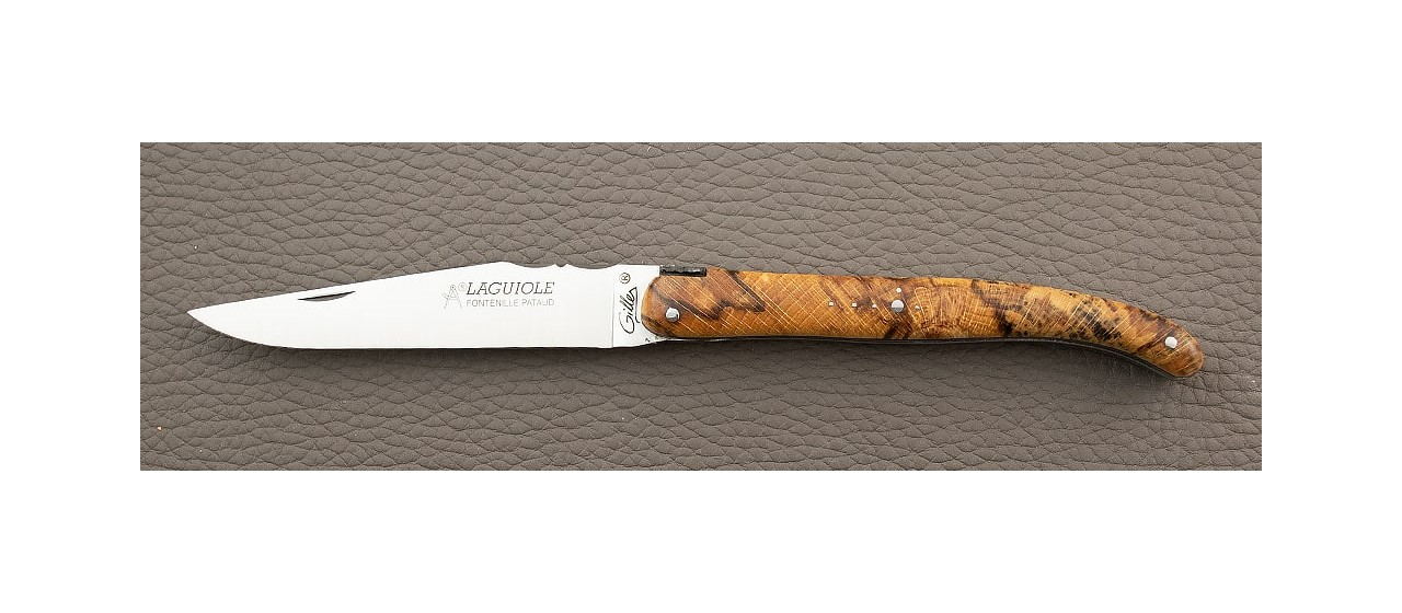 Laguiole Knife Traditional 11 cm Classic Range Full Handle Stabilized beech made in France