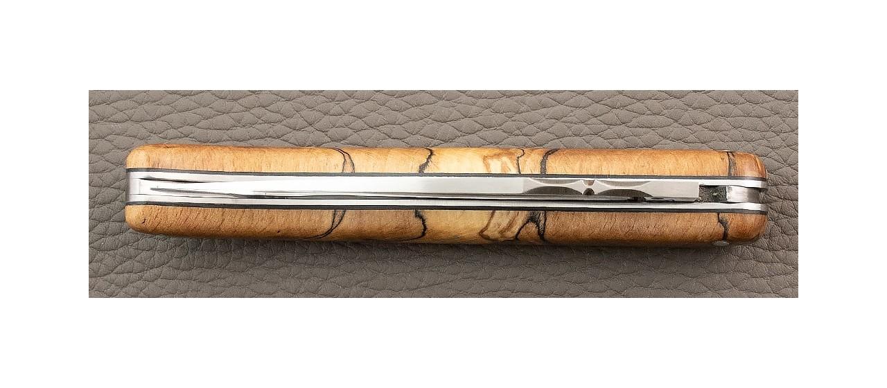 handmade in France laguiole knife old school Stabilized beech