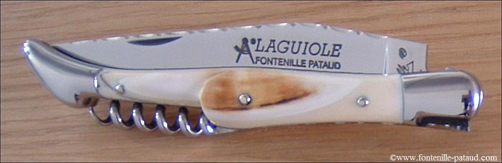 086d702ccf0 Couteau Laguiole Traditionnel 12 cm Guilloche avec Tire-Bouchon Phacochere