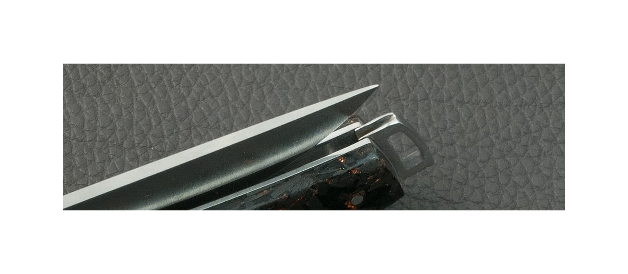 Le Thiers® Nature Fat Carbon Magma knife made in France