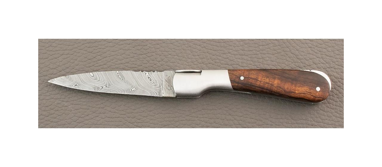Corsican Pialincu knife Damascus range Ironwood