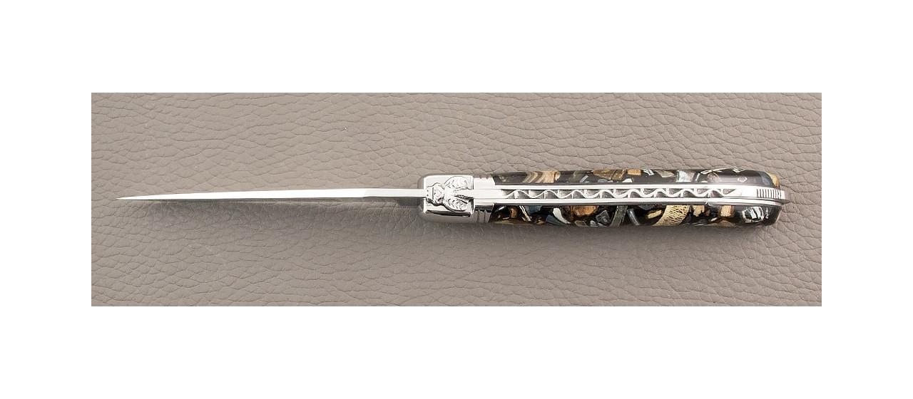 étui pour couteau de laguiole en mammouth stabilisé
