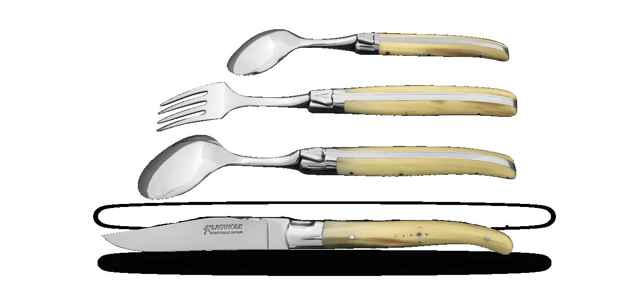 Service Laguiole Diner à deux Pointe de corne
