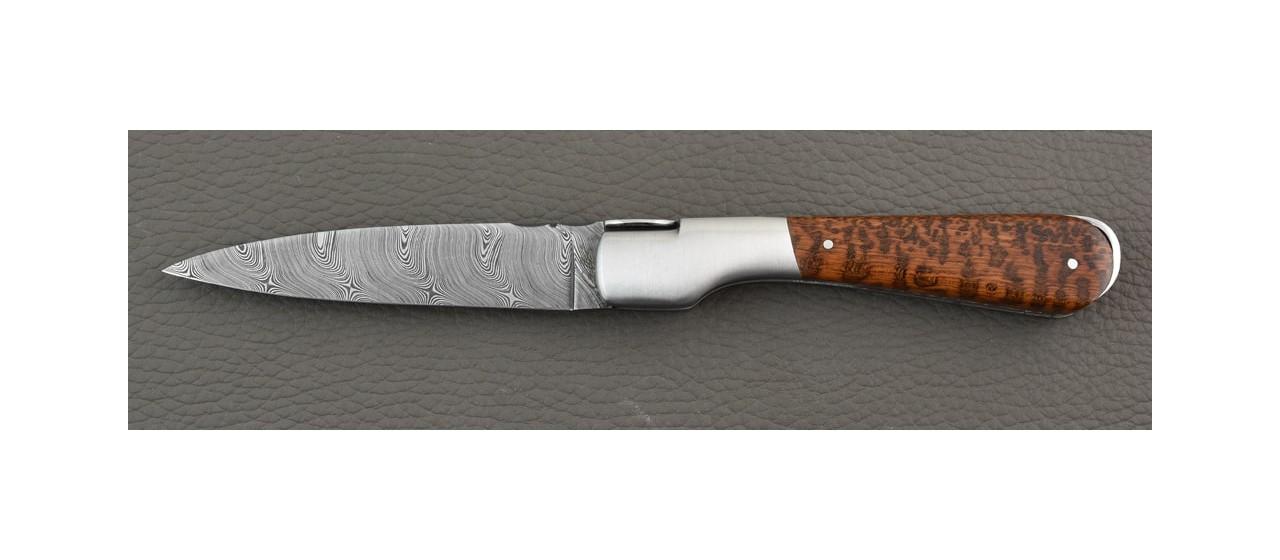 Handmade Corsican Sperone knife Damascus Range Amourette