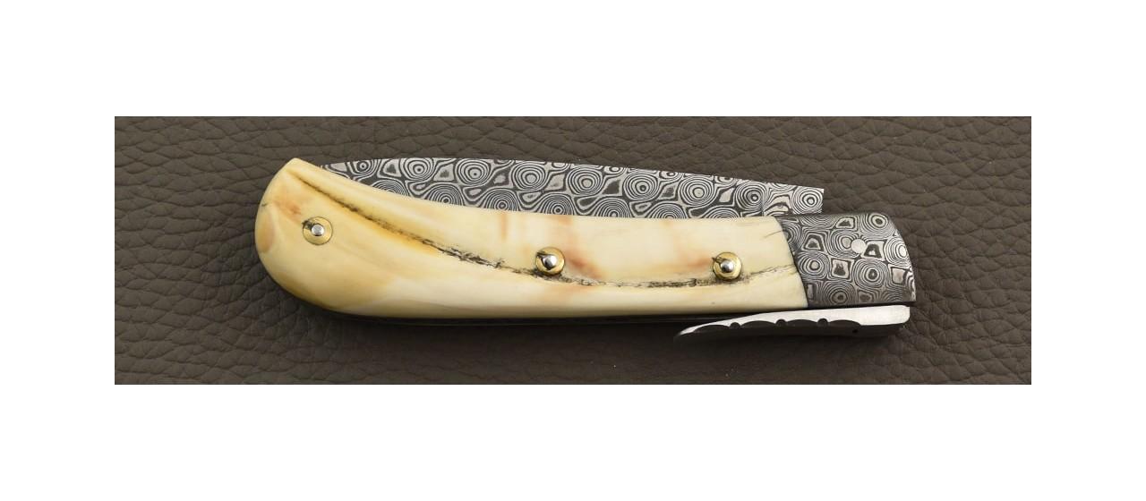 Corsican handmade knife and damascus blade