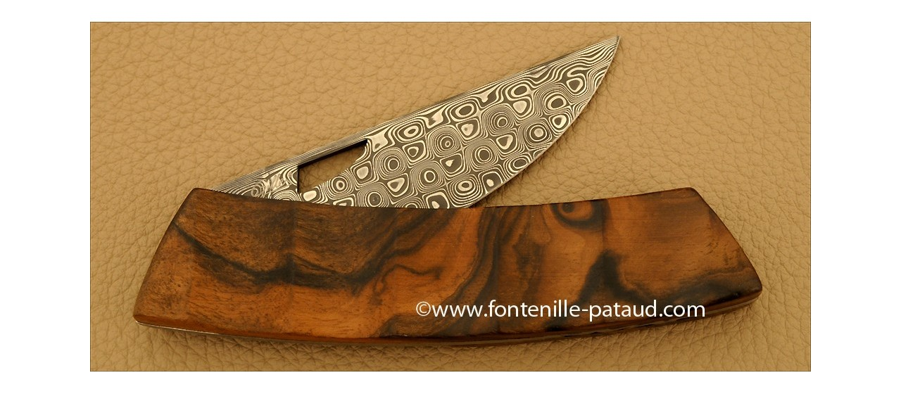 Le Thiers Knife Damascus Range Walnut