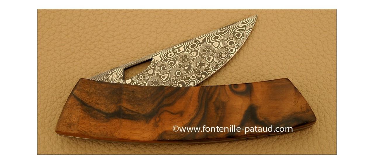 Le Thiers Knife Damascus Range Pistachio wood