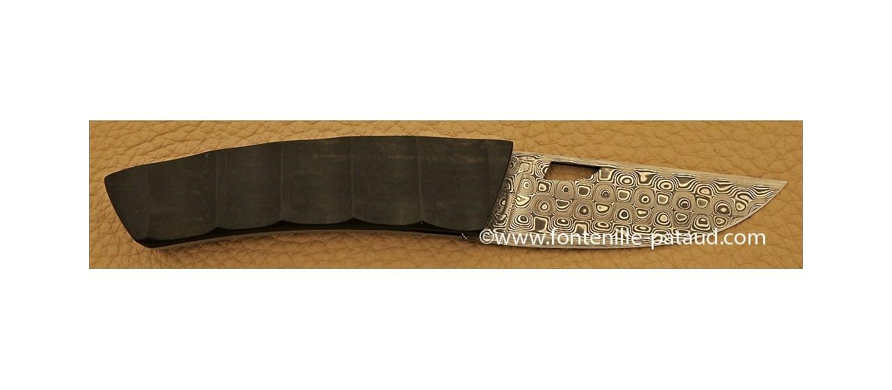 Le Thiers Knife Damascus Range Ebony