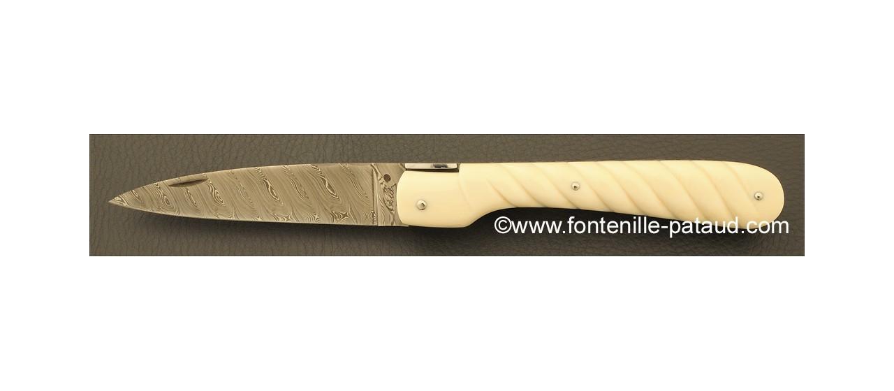Couteau Vendetta Corse Corde Ivoire de mammouth blanc