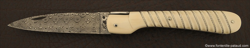 Corsican Vendetta knife Silver thread Real ivory
