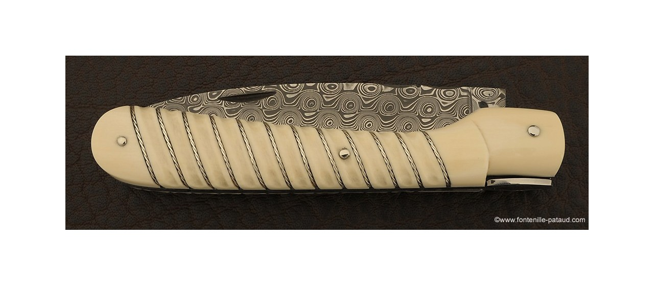 Corsican Vendetta knife Silver thread mammoth ivory