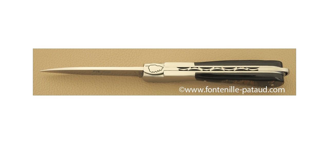 Corsican Sperone knife Classic Range Buffalo bark
