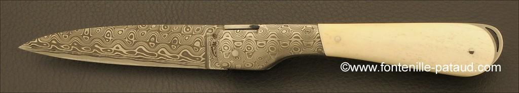 Corsican Sperone knife Damascus Range Real bone