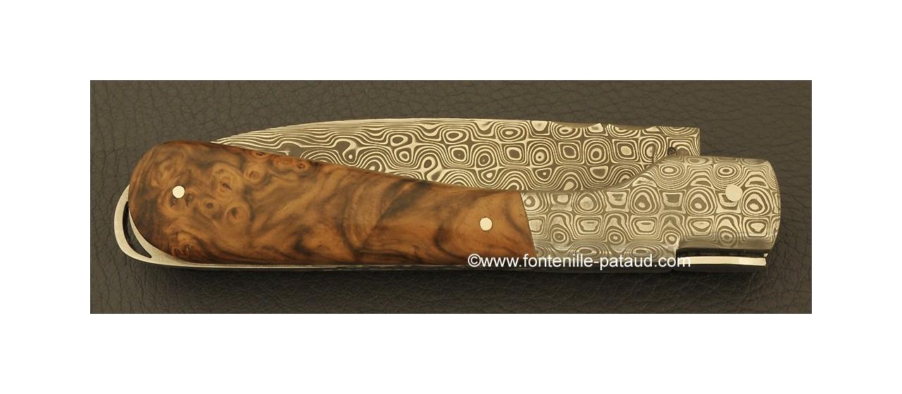 Corsican Sperone knife Damascus Range Walnut