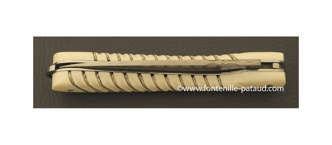 Corsican Sperone knife Collection Range Full handle Silver thread Real mammoth ivory