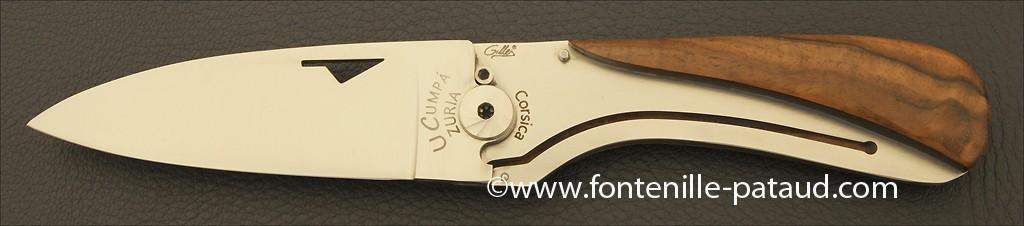 Couteau U Cumpa Corse Classique Noyer